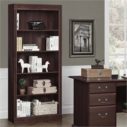 Altra Furniture Monterrey 5-shelf Bookcase in Cherry