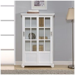 Altra Furniture Aaron Lane 4 Shelf Bookcase in White