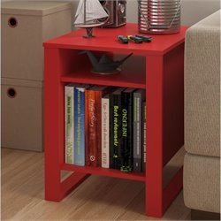 Altra Reese End Table in Ruby Red