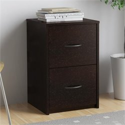 Altra Core 2 Drawer Filing Cabinet in Black Forest