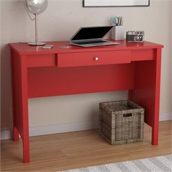 Altra Carrington1 Drawer Computer Desk in Ruby Red