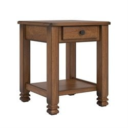 Altra Furniture Summit Mountain Accent Table in Tuscany Oak