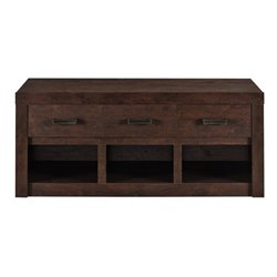Altra Furniture Westbrook Storage Bench in Dark Walnut