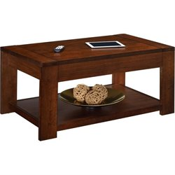 Altra Furniture Vermont Farmhouse Coffee Table with Lift Top in Cherry