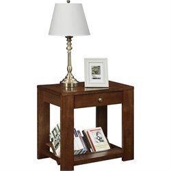 Altra Furniture Vermont Farmhouse Accent Table in Cherry