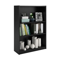 3-Shelf Bookcase in Black Ebony Ash