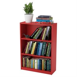Altra Furniture Core 3-Shelf Bookcase in Ruby Red