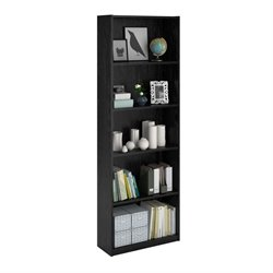 Altra Furniture Core 5-Shelf Bookcase in Black Ebony Ash