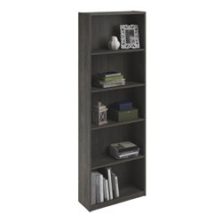 Altra Furniture Core 5-Shelf Bookcase in Rodeo Oak