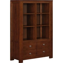 Altra Furniture Vermont Farmhouse 6 Cube Bookcase in Madison Cherry