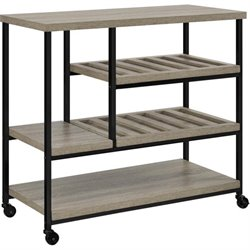 Altra Furniture Elmwood Multi-Purpose Rolling Cart in Sonoma Oak