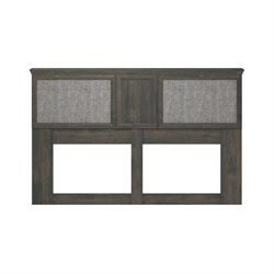 Altra Furniture Stone River King Headboard with Inserts in Rodeo Oak