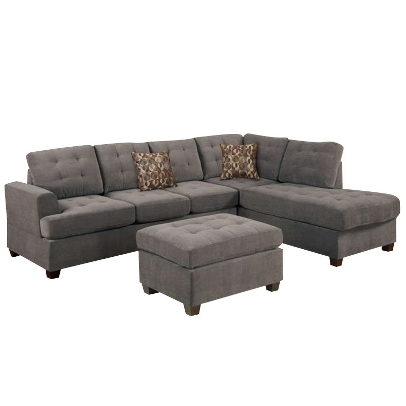 Poundex Bobkona Prissy Suede Sectional Sofa with Ottoman  : 1470811 88 L from www.cymax.com size 800 x 800 jpeg 40kB