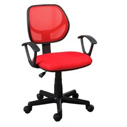 Poundex Mid Back Mesh Office Chair