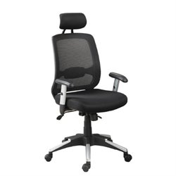 Poundex Swivel Office Chair in Black