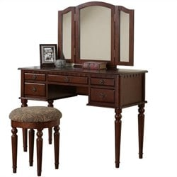 Bobkona St. Croix Vanity Set with Stool
