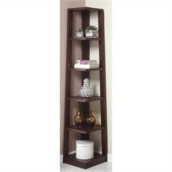 Poundex Book Shelf in Walnut