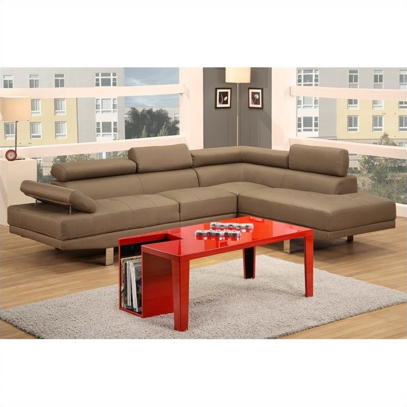 Poundex Bobkona Vegas 2 Piece Sectional Sofa in Light Tan  sc 1 st  Cymax Stores : linen sectional sofa - Sectionals, Sofas & Couches