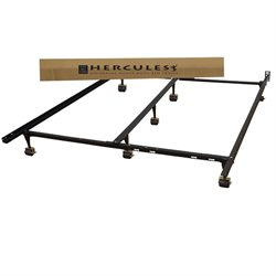 Classic Brands Hercules Universal Adjustable Metal Bed Frame in Black