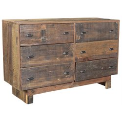 Moe's Klondike 6 Drawer Double Dresser in Reclaimed Wood