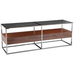 Moe's Cubix Glass Top TV Stand in Dark Brown