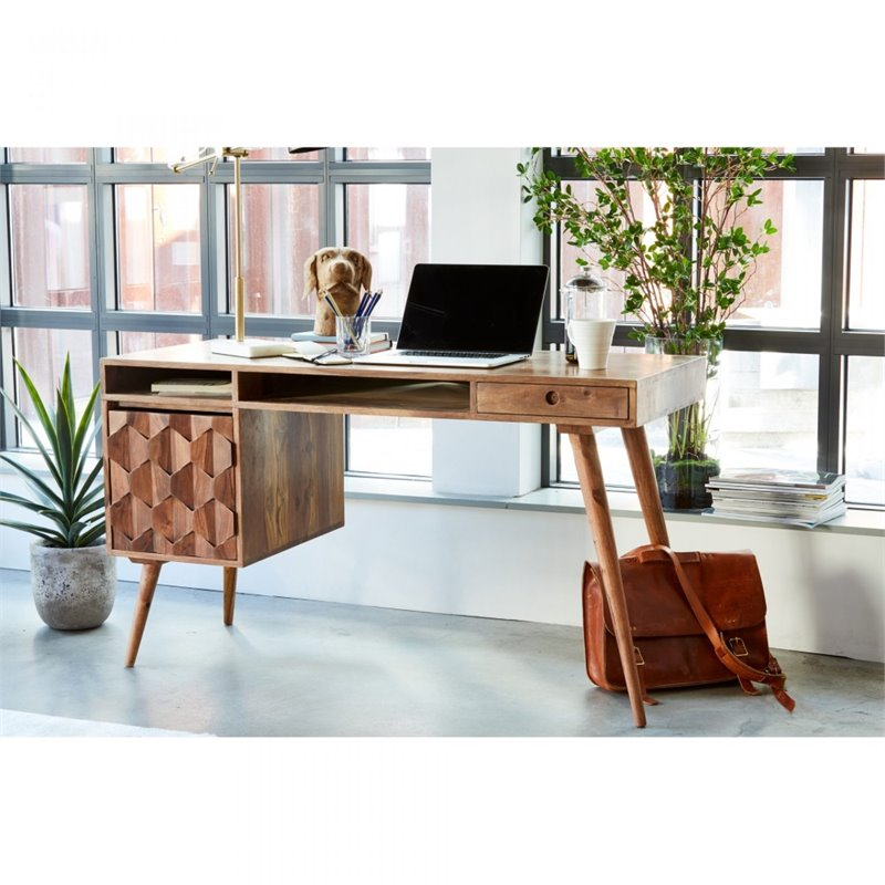 Moe's O2 1 Drawer Writing Desk in Natural