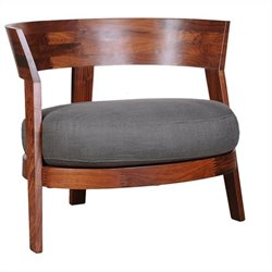 Moe's Mulia Club Chair in Brown