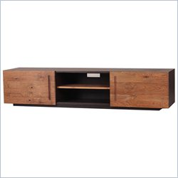 Moe's Mountain Teak TV Table with 2 Doors in Natural