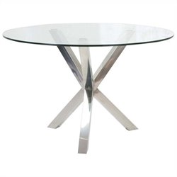 Moe's Redondo Dining Table in Clear