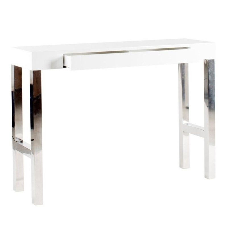 Moe 39 S Tura Console Table In White Lacquer Er 1026 18