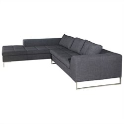 Moe's Sulla Left Sectional in Charcoal