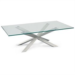 Moe's Braga Coffee Table in Clear