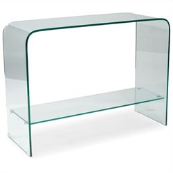 Moe's Sono Console Table in Clear