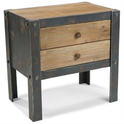 Moe's Bolt Side Table with 2 Drawers in Natural