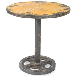 Moe's Wheel Round Dining Table in Yellow