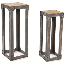 Moe's Urbane Plant Stand in Natural (Set of 2)