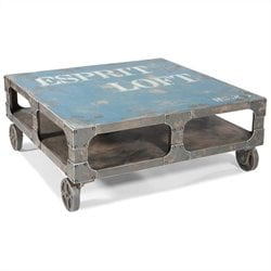 Moe's Loft Coffee Table in Blue