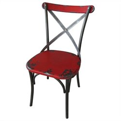 Moe's Bali Chair in Red (Set of 2)