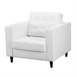 Moe's Romano Upholstered Club Chair in White