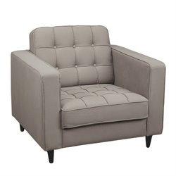 Moe's Romano Upholstered Club Chair in Gray