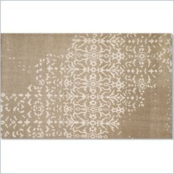 Moe's Fringe Rug in Cream White