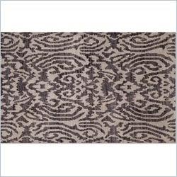 Moe's Fringe Rug in Dark Gray