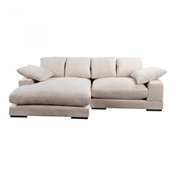 Moe's Plunge Sectional in Cappuccino
