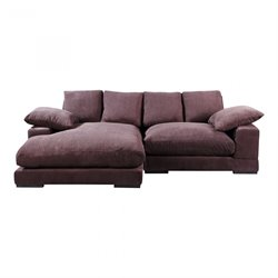 Moe's Plunge Sectional in Dark Brown
