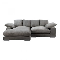Moe's Plunge Sectional in Charcoal
