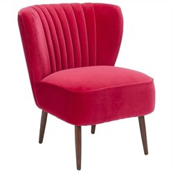 Moe's Valencia Leather Lounge Chair in Pink
