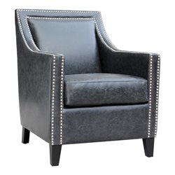 Moe's Stratford Club Chair in Black