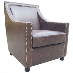 Moe's Stratford Club Chair in Brown
