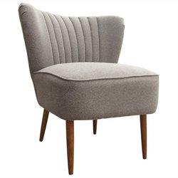 Moe's Valencia Club Chair in Dark Gray
