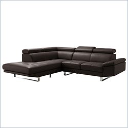 Moe's Andreas Sectional in Dark Brown